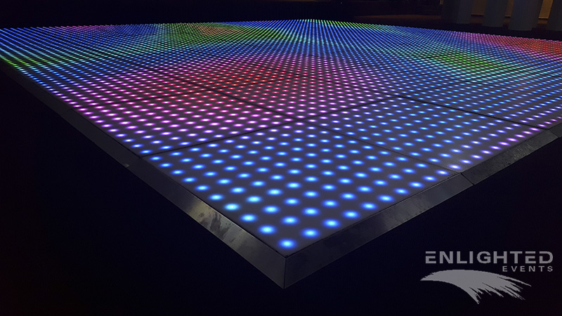 Pixel LED dance floor in full color